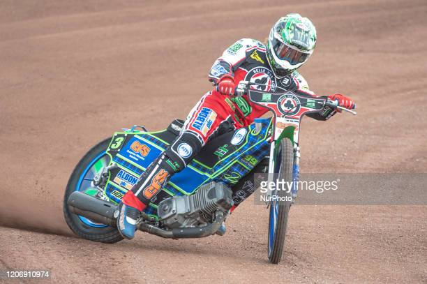 Dan Bewley of Belle Vue Aces in action during The Belle Vue Speedway Media Day, at The National Speedway Stadium, Manchester, on Thursday 12 March...