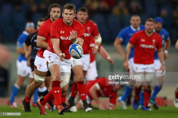 Dan Biggar of Wales during the Guinness Six Nations match between Italy and Wales at Stadio Olimpico on February 09 2019 in Rome Italy