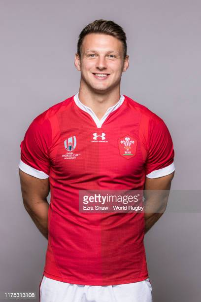 Dan Biggar of Wales poses for a portrait during the Wales Rugby World Cup 2019 squad photo call on on September 17 2019 in Kitakyushu Fukuoka Japan