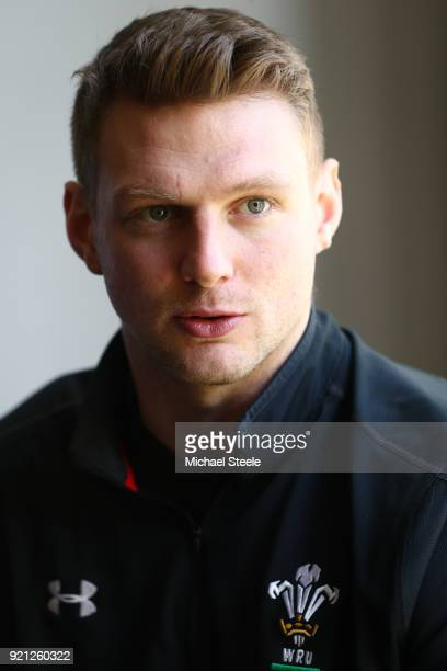 Dan Biggar of Wales speaks to the media duirng a press conference at Vale of Glamorgan on February 20 2018 in Cardiff Wales