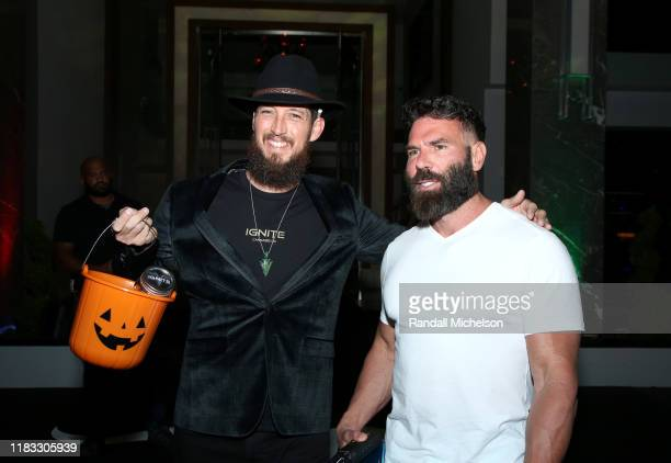 Dan Bilzerian and guest attend Dan Bilzerian's Halloween Party sponsored by Ignite International Ltd Alister and BlitzBet on October 24 2019 in Los...