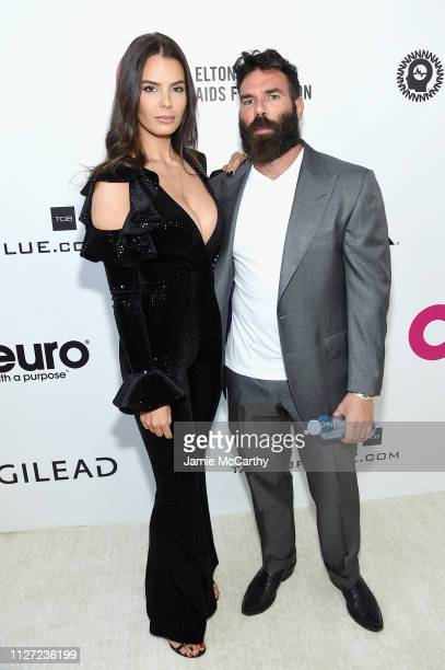 Dan Bilzerian and guest attend the 27th annual Elton John AIDS Foundation Academy Awards Viewing Party sponsored by IMDb and Neuro Drinks celebrating...