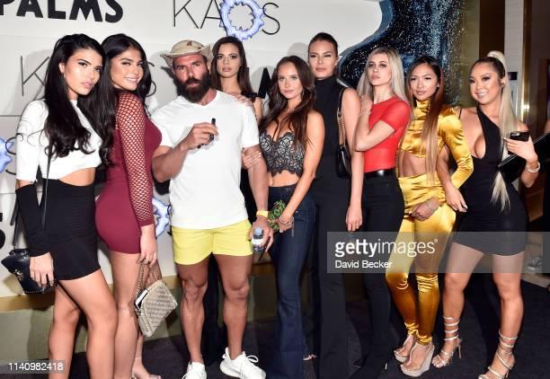 Dan Bilzerian and guests attend the grand opening of KAOS Dayclub Nightclub at Palms Casino Resort on April 06 2019 in Las Vegas Nevada