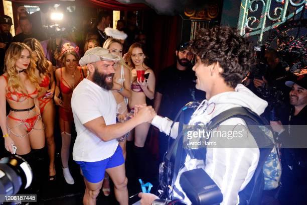 Dan Bilzerian and Sky Diver Maximus Ignite attends Ignite International Brands Ltd Introduces Ignite Vodka With it's Annual Valentine's Party on...