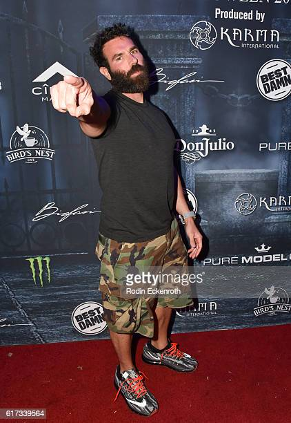 Dan Bilzerian arrives at The 2016 MAXIM Halloween Party produced by Karma International where guests sipped on CÎROC Mango Tequila Don Julio Blanco...
