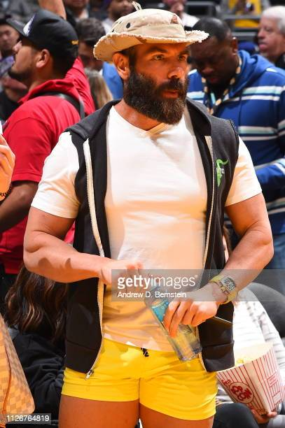 Dan Bilzerian attends a game between the Houston Rockets and Los Angeles Lakers on February 21 2019 at STAPLES Center in Los Angeles California NOTE...