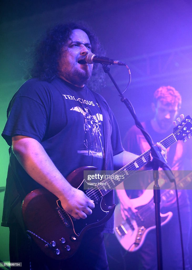 Dan Birkett and Dave Westbrook of Subdued perform at Engine Rooms on March 26, 2016 in Southampton, England.