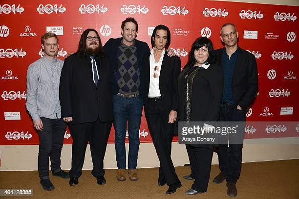 "Dan Bowen, Iain Forsyth, Trevor Groth, Nick Cave, Jane Pollard and James Wilson attend the ""20,000 Days On Earth"" premiere at Egyptian Theatre on..."