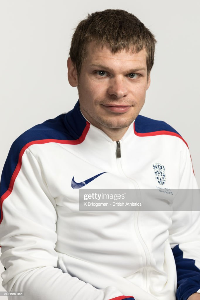 Dan Bramall of Great Britain poses for a portrait during the British Athletics World Para Athletics Championships Squad Photo call on June 25, 2017 in Loughborough, England.