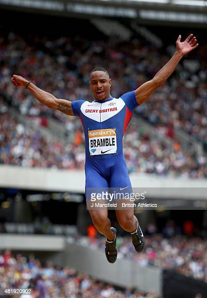 Dan Bramble of Great Britain competes in the Men's Long Jump during Day Two of the Sainsbury's Anniversary Games Diamond League event at The Stadium...