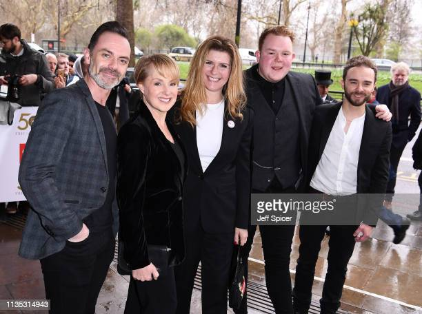 Dan Brocklebank Sally Dynevor Connie Hyde Colson Smith and Jack P Shepherd attend the 2019 'TRIC Awards' held at The Grosvenor House Hotel on March...