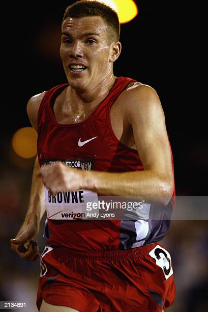 Dan Browne 3rd place winner competes in the men's 10k finals at the USA Outdoor Track and Field Championships on June 19, 2003 at Cobb Track and...