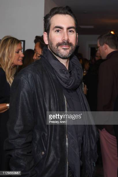 Dan Brunn attends Oliver Peoples x Tasya van Ree Celebrates Who is Oliver Exhibition at LECLAIREUR on February 13 2019 in Los Angeles California