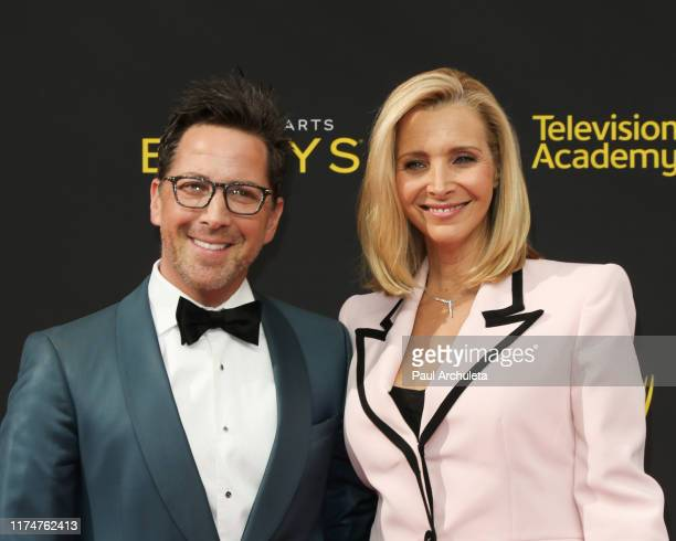 Dan Bucantinsky and Lisa Kudrow attend the 2019 Creative Arts Emmy Awards on September 14, 2019 in Los Angeles, California.