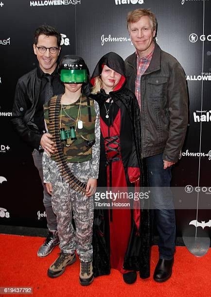 Dan Bucatinsky Don Roos and family attend the GOOD Foundation's 1st Halloween Bash at Sunset Gower Studios on October 30 2016 in Hollywood California