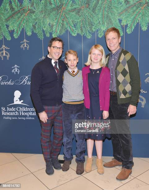 Dan Bucatinsky Jonah Bucatinsky Eliza Bucatinsky and Don Roos attend the Brooks Brothers holiday celebration with St Jude Children's Research...