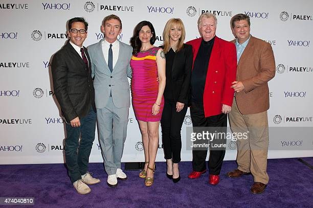Dan Bucatinsky Michael Patrick King Laura Silverman Lisa Kudrow Robert Michael Morris and Lance Barber arrive at The Paley Center For Media Presents...