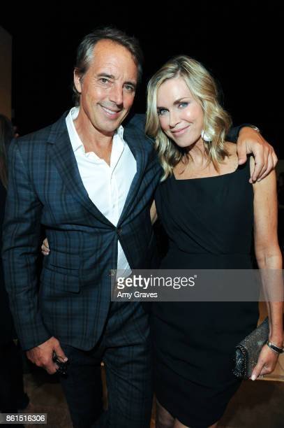 Dan Buettner and Kathy Freston attend the Last Chance For Animals 33rd Annual Celebrity Benefit Gala Arrivals at The Beverly Hilton Hotel on October...