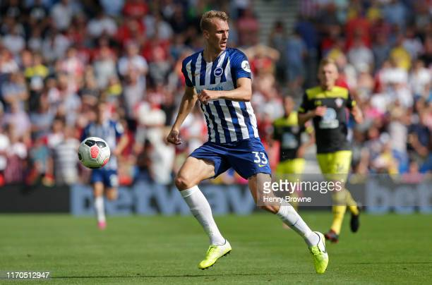 Dan Burn of Brighton and Hove Albion during the Premier League match between Brighton & Hove Albion and Southampton FC at American Express Community...