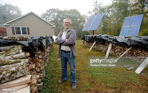 Dan Burr who lives off the grid in Damariscotta Tuesday October 13 2015 Burr uses wood to heat his home and solar panels for electricity