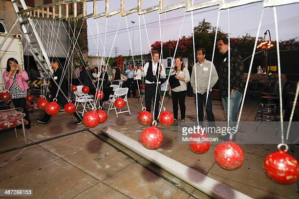Dan Busby Lead Engineer of Two Bit Circus discusses the physics of a giant Wave Pendulum with guests hosted by Two Bit Circus and produced by JSK...