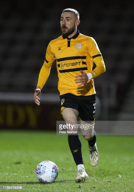 Dan Butler of Newport County in action during the Sky Bet League Two match between Northampton Town and Newport County at PTS Academy Stadium on...