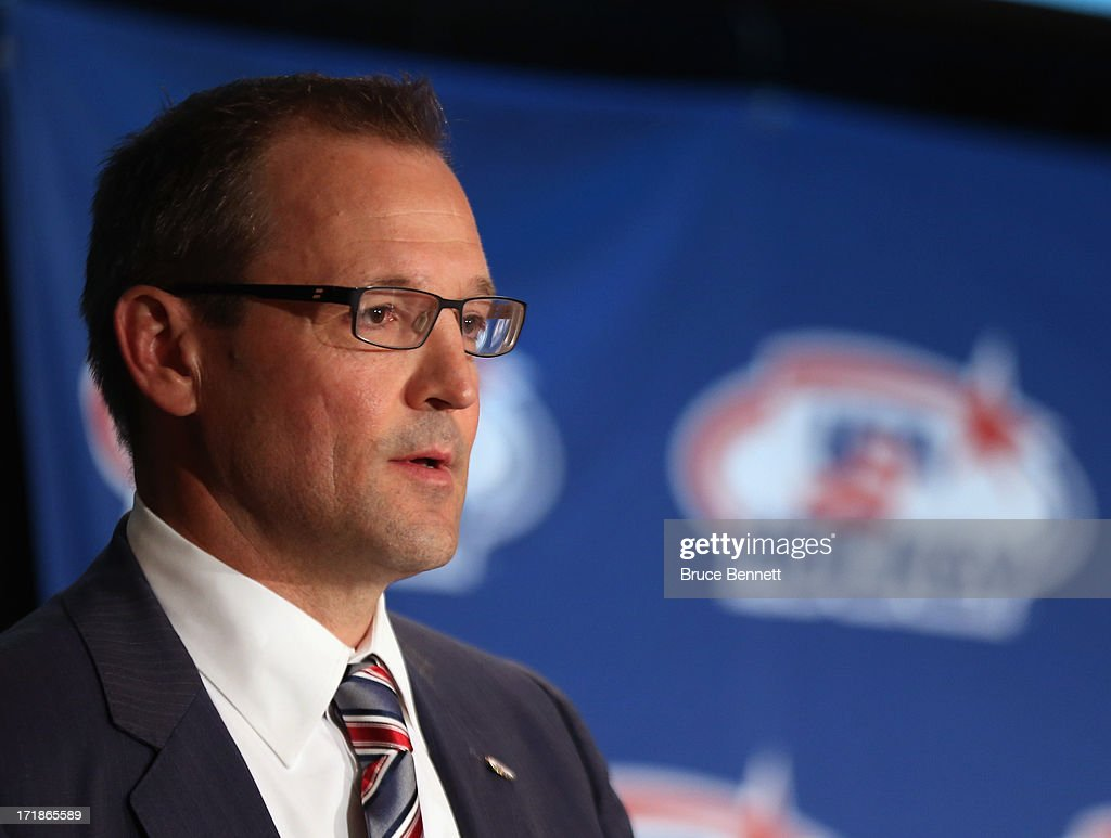 Dan Bylsma is named the head coach of the 2014 U.S. Olympic Men's Ice Hockey Team at the Marriott Marquis Hotel on June 29, 2013 in New York City.