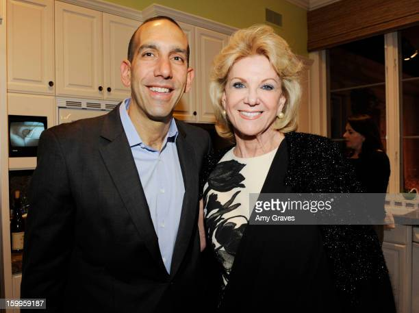 Dan Cardinali and Elaine Wynn attend Kevyn and Elaine Wynn's Dinner for Communities In Schools on January 23 2013 in Brentwood California