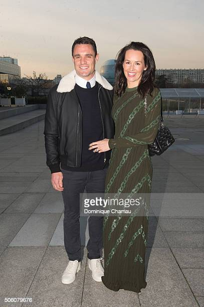 Dan Carter and his wife attend the Louis Vuitton Menswear Fall/Winter 20162017 show as part of Paris Fashion Week on January 21 2016 in Paris France