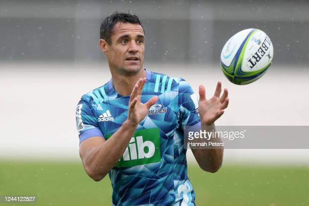 Dan Carter attends a training session after announcing he is joining the Blues at Blues HQ on June 04 2020 in Auckland New Zealand Carter is joining...