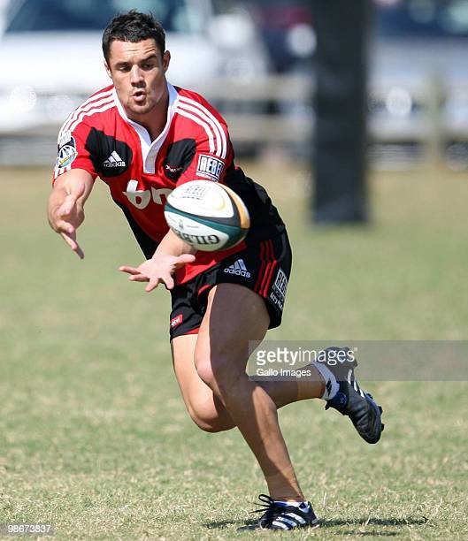 Dan Carter during the Crusaders training session at George Campbell Technical High School on April 26 2010 in Durban South Africa