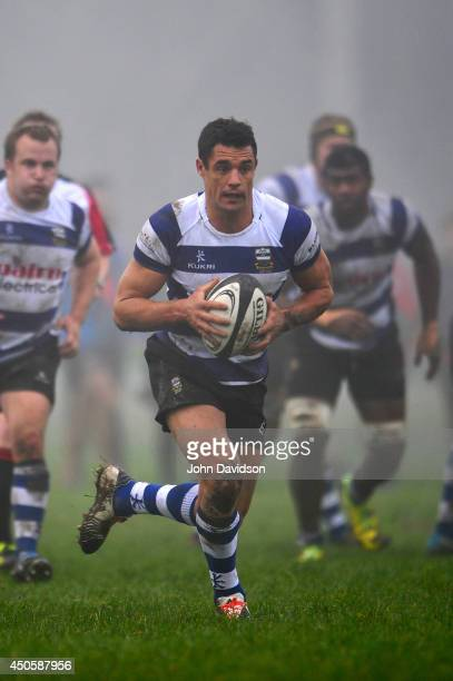 Dan Carter in action in his come back match in the Ellesmere Rugby Sub Union Semi FInal match between Southbridge and Glenmark on June 14, 2014 in...