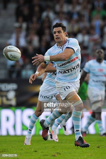 Dan Carter of Racing 92 during the Playoff Top 14 match between Racing 92 and Toulouse at Stade Yves Du Manoir on June 11 2016 in Paris France
