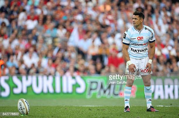 Dan Carter of Racing 92 in action during the Final Top 14 between Toulon and Racing 92 at Camp Nou on June 24 2016 in Barcelona Spain