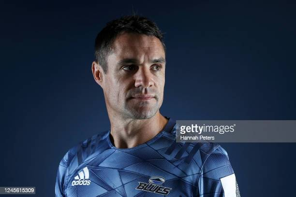 Dan Carter poses during a Blues portraits session on June 05, 2020 in Auckland, New Zealand.