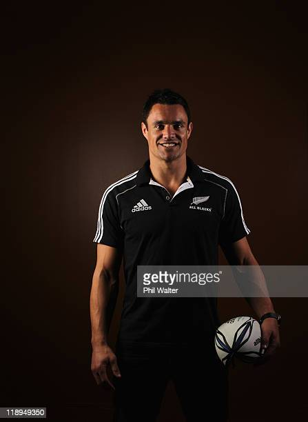 Dan Carter poses during a New Zealand All Blacks portrait session at the Heritage Hotel on July 13 2011 in Auckland New Zealand