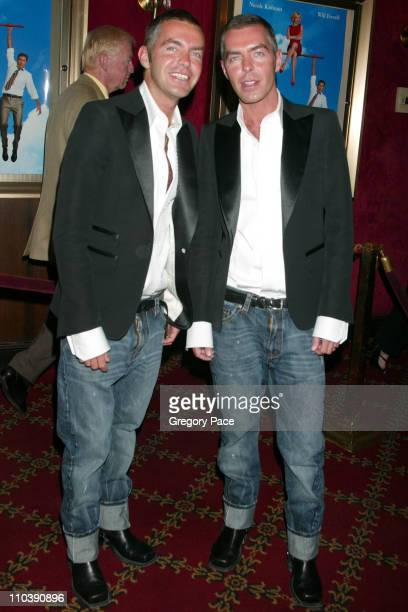 """Dan Caten and Dean Caten, designers of DSquared during """"Bewitched"""" New York City Premiere - Inside Arrivals at Ziegfeld Theater in New York City, New..."""