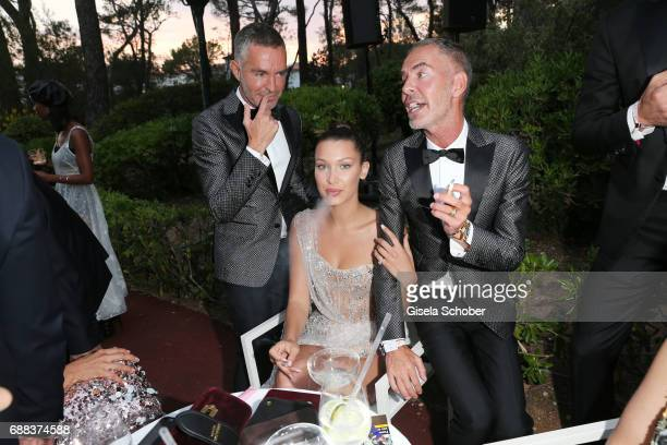 Dan Caten Bella Hadid and Dean Caten attend the amfAR Gala Cannes 2017 at Hotel du CapEdenRoc on May 25 2017 in Cap d'Antibes France