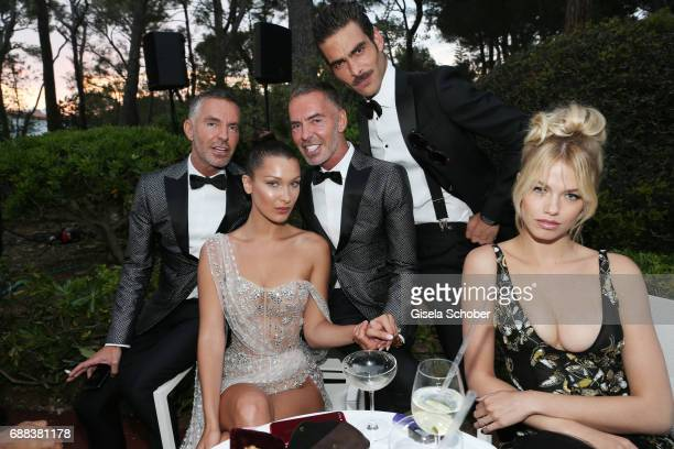 Dan Caten Bella Hadid Dean Caten Jon Kortajarena and Hailey Clauson attend the amfAR Gala Cannes 2017 at Hotel du CapEdenRoc on May 25 2017 in Cap...