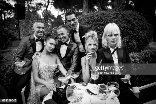 Dan Caten Bella Hadid Dean Caten Jon Kortajarena Hailey Clauson and Marjan Jonkman attend the amfAR Gala Cannes 2017 at Hotel du CapEdenRoc on May 25...
