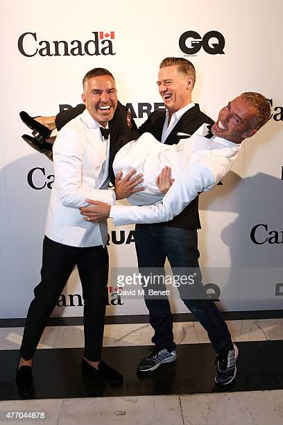 Dan Caten Bryan Adams and Dean Caten attend Dsquared2's 20th anniversary celebration at Canada House cohosted by GQ at Canadian Embassy on June 13...