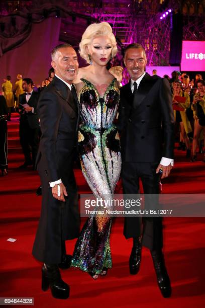 Dan Caten Dean Caten and guest attend the Life Ball 2017 Gala Dinner at City Hall on June 10 2017 in Vienna Austria