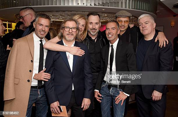 Dan Caten Jeff Lounds Jo Levin David Furnish Dean Caten Gerry DeVeaux and Tim Blanks attend the OdeJo Launch Party at Harvey Nichols on March 17 2016...