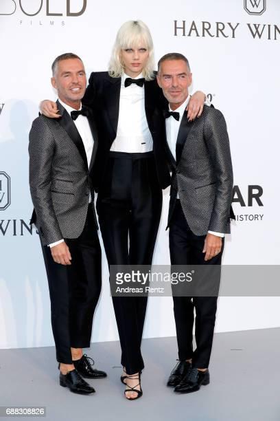 Dan Caten Marjan Jonkman and Dean Caten arrive at the amfAR Gala Cannes 2017 at Hotel du Cap-Eden-Roc on May 25, 2017 in Cap d'Antibes, France.