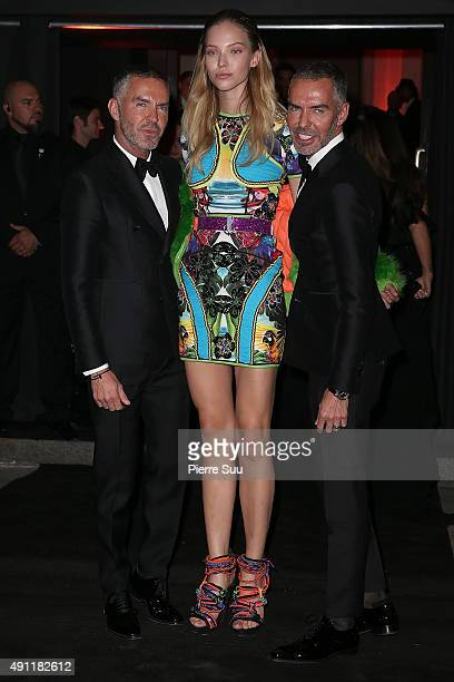 Dan Caten Sasha Luss and Dean Caten arrive at Vogue 95th Anniversary Party as part of the Paris Fashion Week Womenswear Spring/Summer 2016 on October...