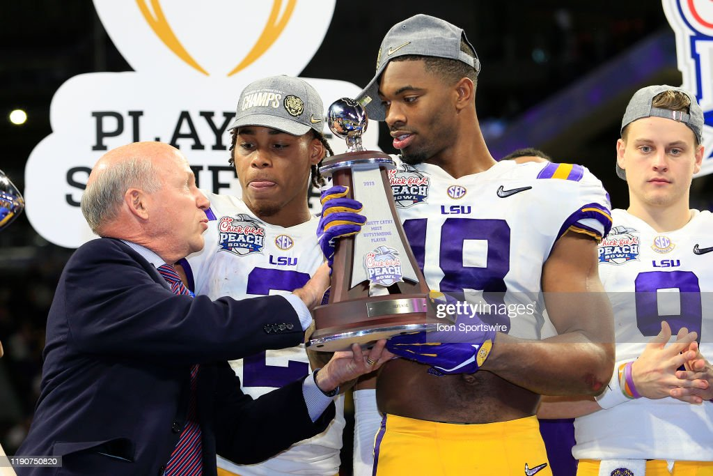 COLLEGE FOOTBALL: DEC 28 CFP Semifinal at the Chick-fil-A Peach Bowl - Oklahoma v LSU : News Photo