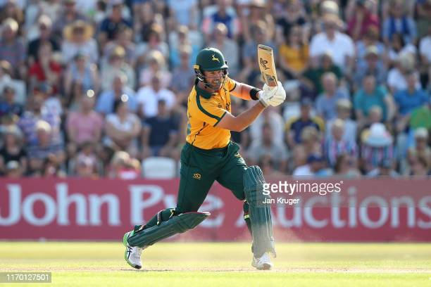 Dan Christian of Notts Outlaws bats during the Vitality T20 Blast match between Notts Outlaws and Yorkshire Vikings at Trent Bridge on August 25,...