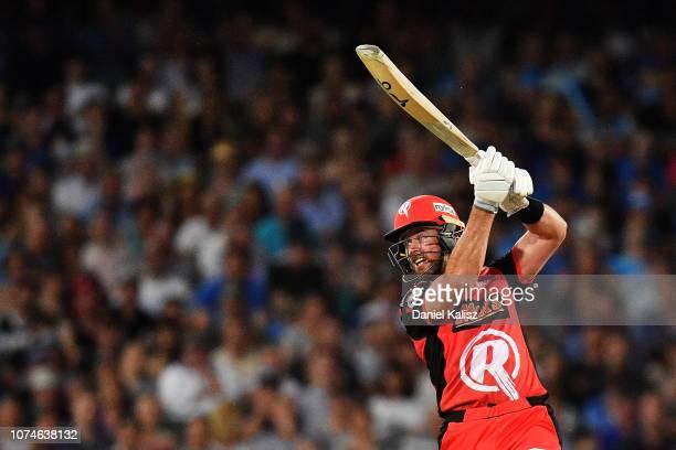 Dan Christian of the Melbourne Renegades bats during the Adelaide Strikers v Melbourne Renegades Big Bash League Match at Adelaide Oval on December...