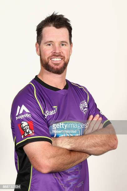 Dan Christian poses during the Hobart Hurricanes BBL headshots session on December 9 2017 in Hobart Australia