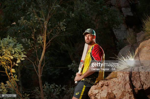 Dan Christian poses for a photo during the 2018 Cricket Australia via Getty Images Indigenous Championships on February 8, 2018 in Alice Springs,...